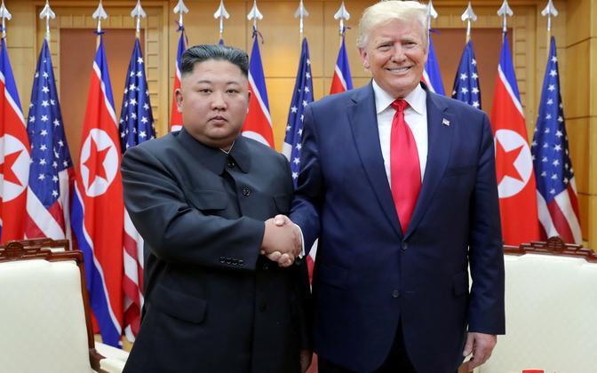 USA presidendi Donald Trumpi ja Põhja-Korea liidri Kim Jong-uni kohtumine 30. juunil 2019.