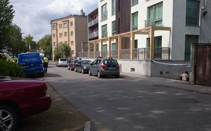 Место происшествия на улице Коллане.