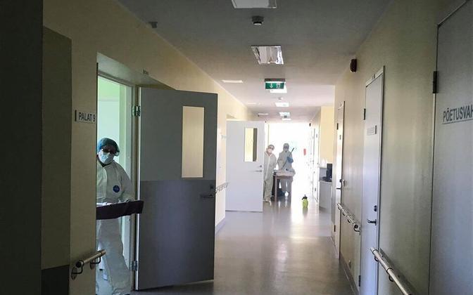 A coronavirus ward in Kuressaare Hospital during the pandemic.
