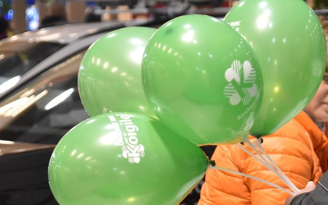 Center Party promotional balloons.