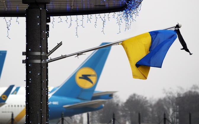 Lennuõnnetuse mälestamine Ukrainas.