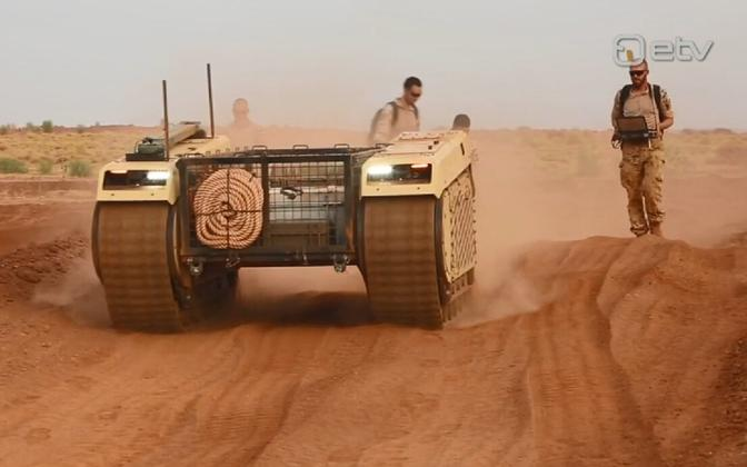 Milrem unmanned ground vehicle in use in Mali.