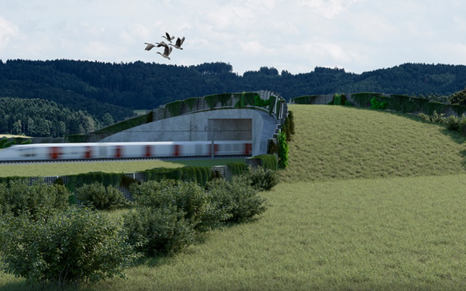 Видение Rail Baltic художниками.