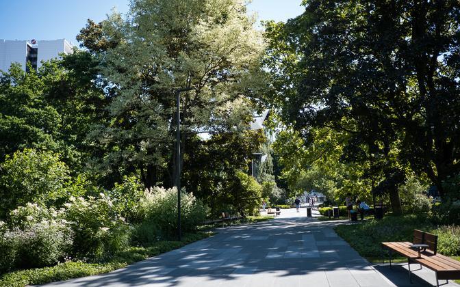 Tammsaare Park in Tallinn.