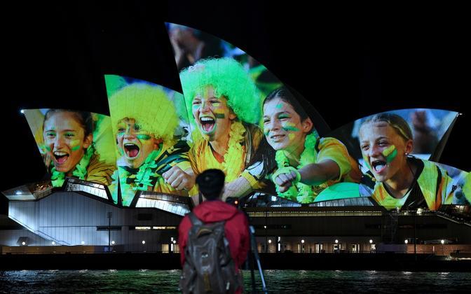 Austraalia ja Uus-Meremaa ühiskandidatuur leidis sümboolset toetust ka Sydney ooperimaja eksterjööril