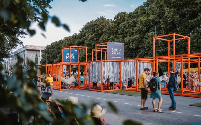 Car-free Avenue (Autovabaduse puiestee) opened in Tartu on July 3.