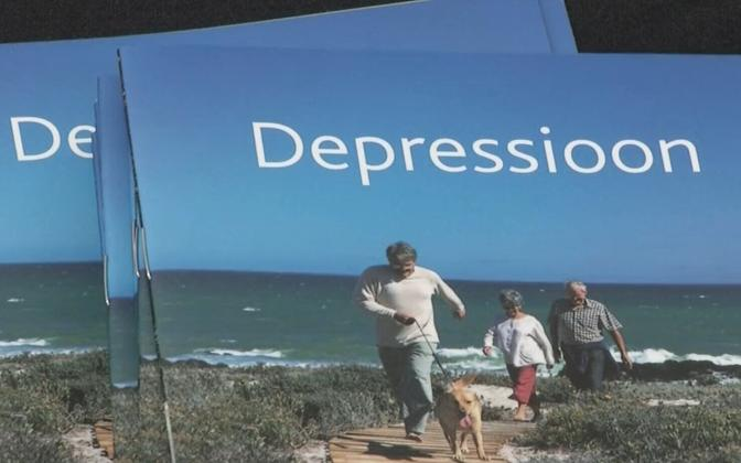 Brochure featuring depressions brosures.