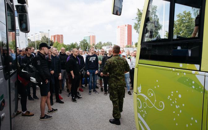 Conscripts at Mustamäe in 2019.