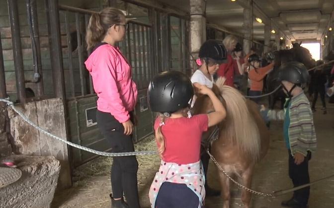 Lastelaager Tori hobusekasvanduses.