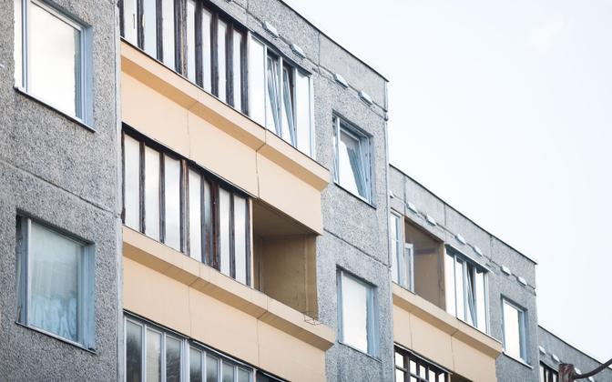 Apartment building in Lasnamäe.