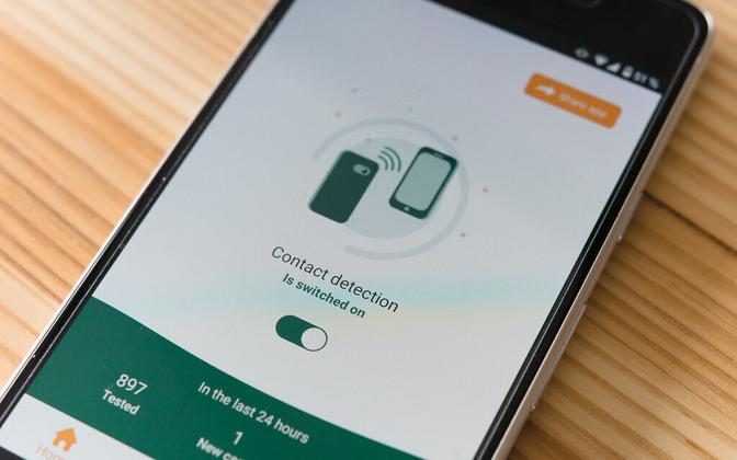 A Latvian-developed Coronavirus app (picture is illustrative).
