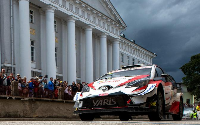 Ott Tänak at last year's Rally Estonia.