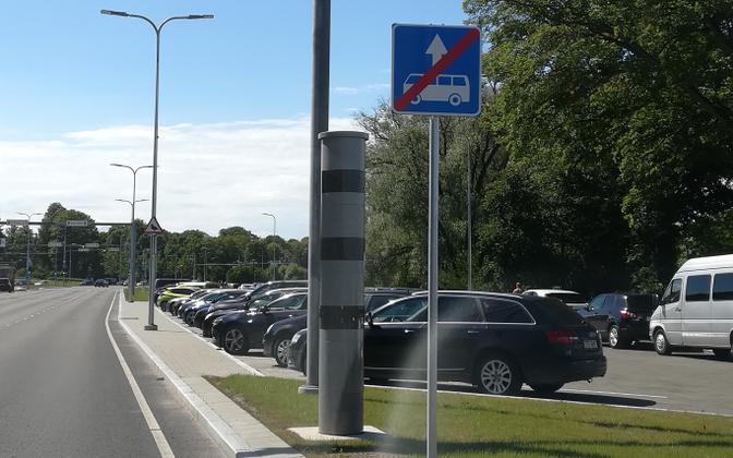 A speed camera at Russalka intersection in Tallinn.