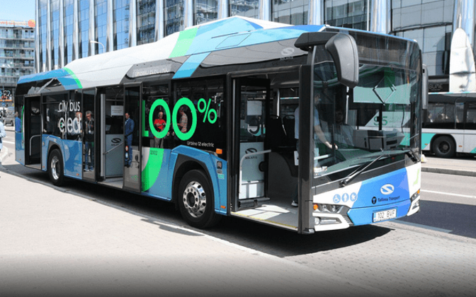 One of the Solaris electric buses tested in Tallinn earlier in the summer.