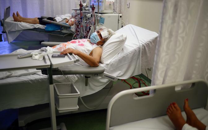 Plahvatuses kannatanud Beiruti haiglas.