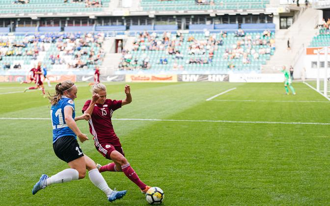 Estonian women's national football team hosted Latvia in a test match.