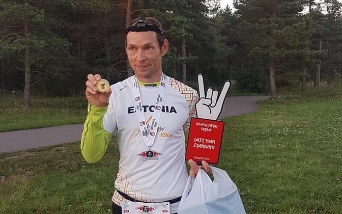 Hannes Veide finišis.
