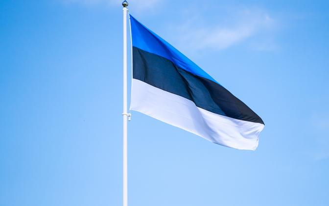 The Estonian flag.