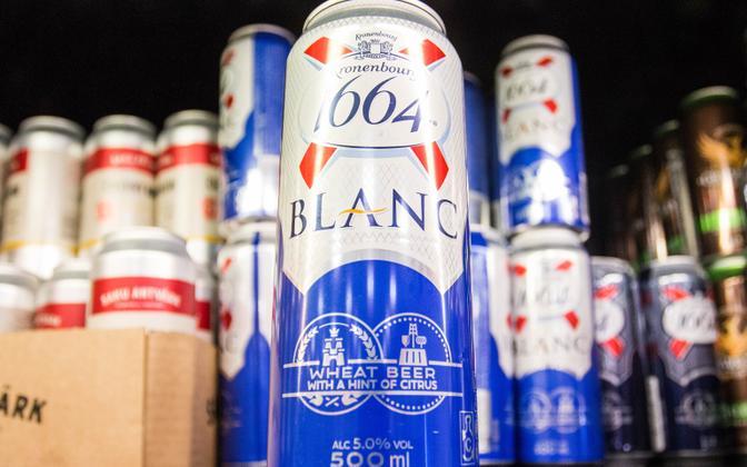 Beer on sale in Estonia.