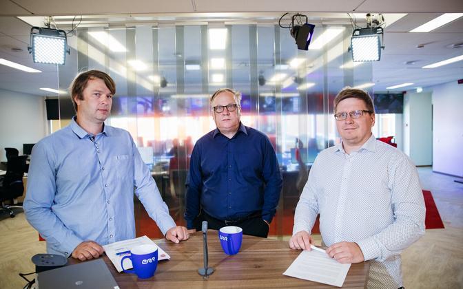 From left, Tõnis Stamberg of Turu-uuringute, Kantar Emor's Aivar Voog, and