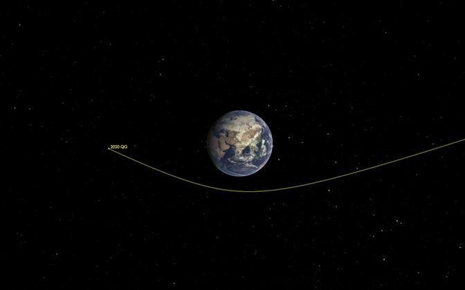 NASA asteroidi jälgimisteenistus fikseeris kaks nädalat tagasi auto-suuruse asteroidi möödumise maast 2950 kilomeetri kauguselt.