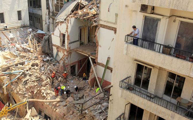 Päästetööd Beirutis
