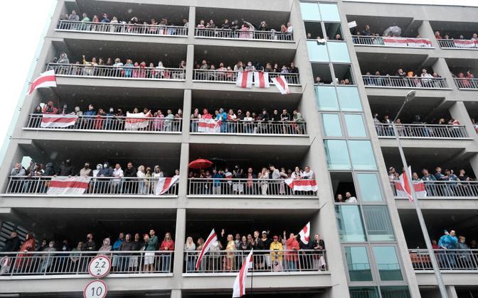 Valgevene tudengite võimudevastane meeleavaldus.