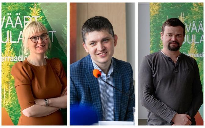 'Rahva teenrid' panel for Saturday, July 31 - Evelyn Kaldoja, Mirko Ojakivi and Krister Paris.