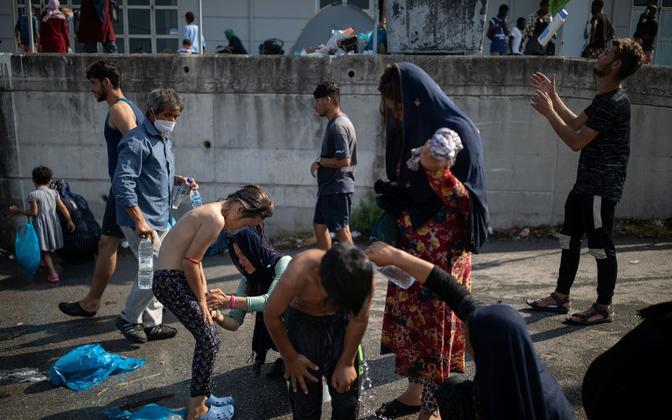 Põgenikud Lesbosel.