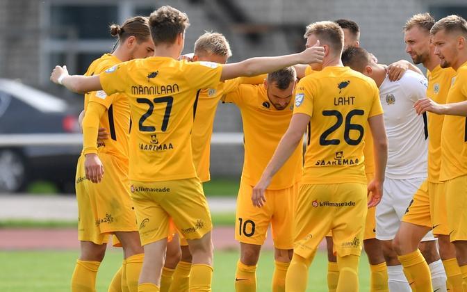 FC Kuressaare tegi klubi ajalugu, alistades esimest korda liigas Nõmme Kalju