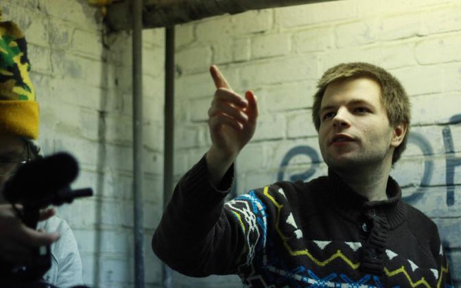 Иван Бортников в момент съёмок собственного фильма