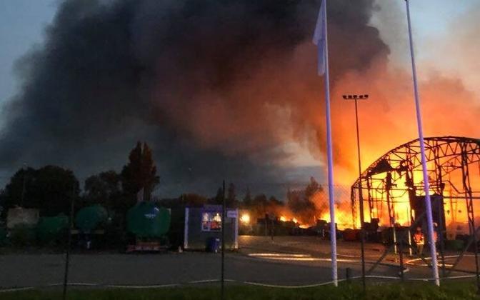 Põleng Seljametsa jäätmejaamas