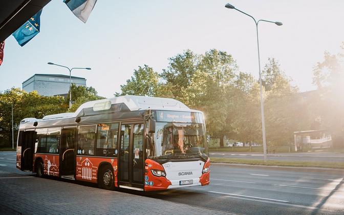A bus in Tartu.