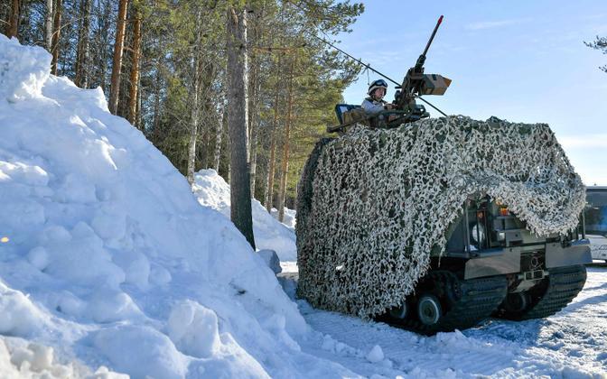 Rootsi relvajõudude sõjamasin 2019. aasta kevadel peetud õppustel.
