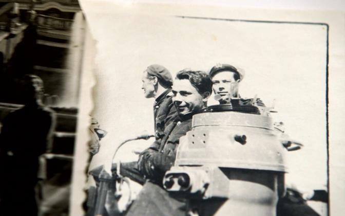 Members of the submarine's crew.