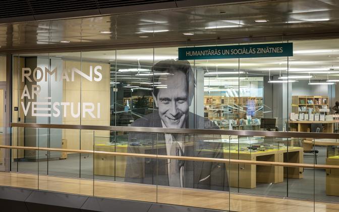 Jaan Kross' exhibition in Latvian National Library.