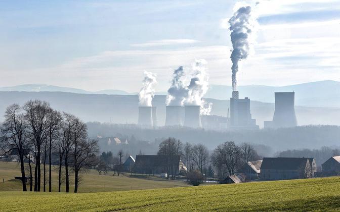 Kivisöel töötav Turowi elektrijaam Poolas.