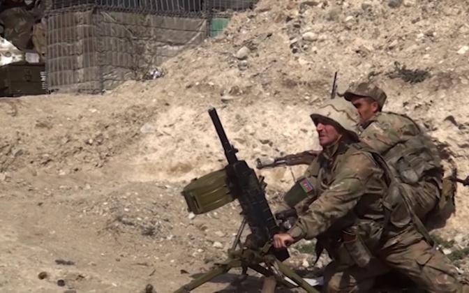 Aserbaidžaani sõdurid Karabahhi piirkonnas.