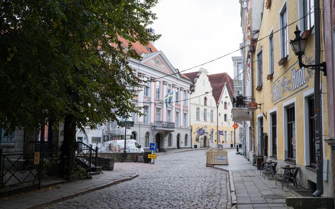 Tühjus Tallinna vanalinnas.