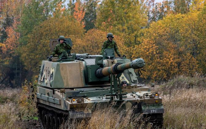 South Korean-made K9 self-propelled howitzer being tested in Estonia.