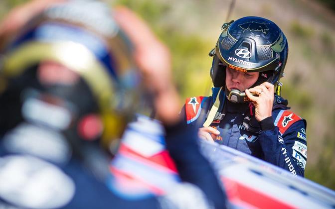 Ott Tänak at WRC Rally Sardegna 2020.