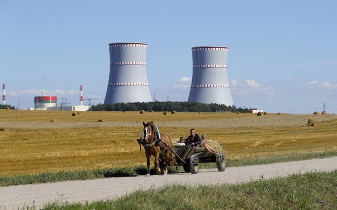Vaade Astravetsi tuumaelektrijaamale.