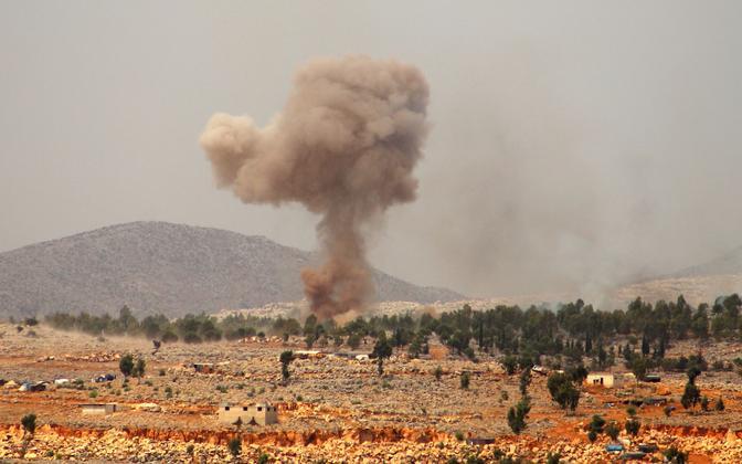 Väidetav Venemaa tehtud õhulöök Idlibi provintsis.