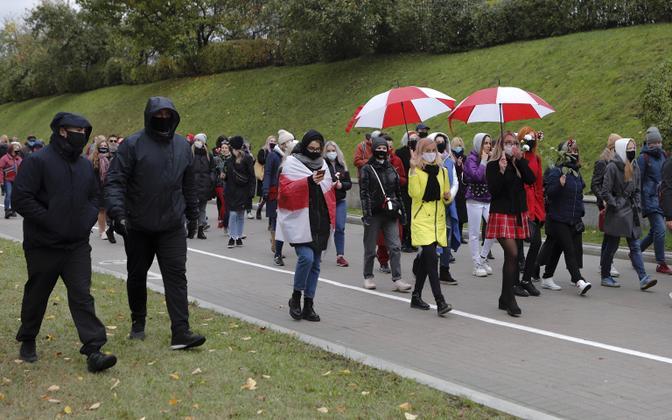 Naiste marss Minskis.