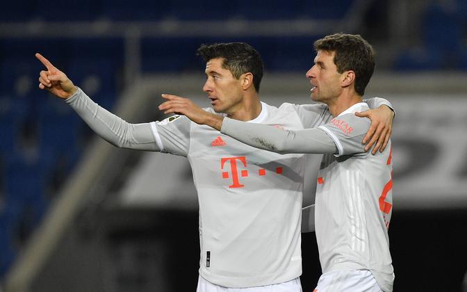 Robert Lewandowski ja Thomas Müller