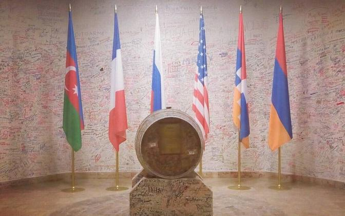 """""""The Barrel of Peace"""" in Ararat Brandy Factory is the only place where the Azerbaijani flag is displayed in Armenia. It is planned to open the barrel when peace is established between the two countries."""