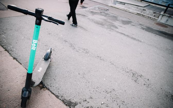 A Bolt e-scooter.