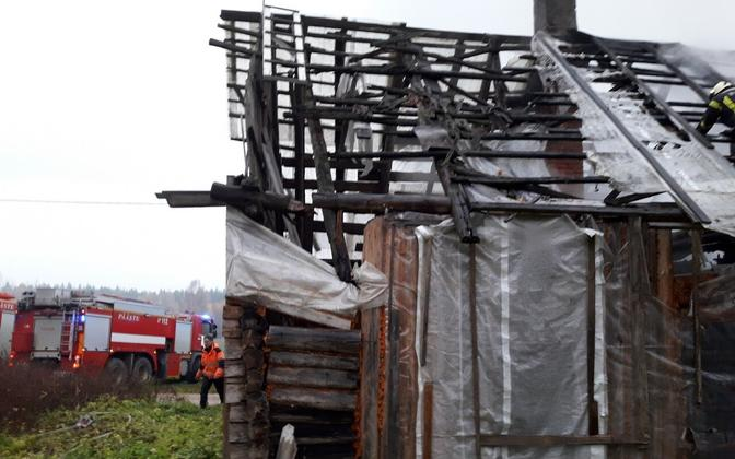 Сгоревший дома в Сетомаа.