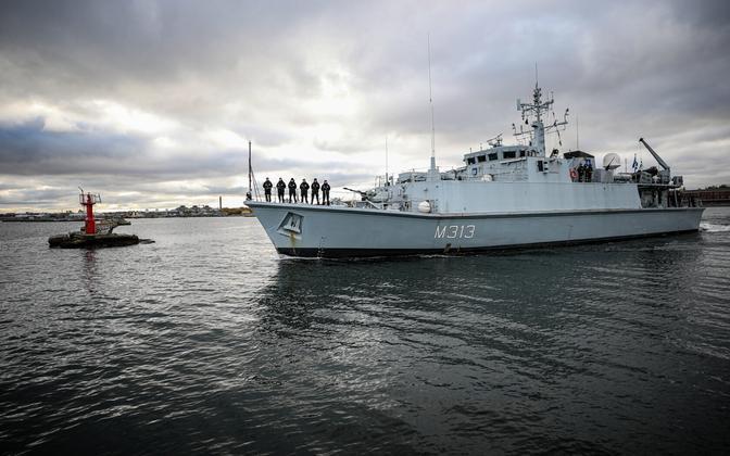 The EML Admiral Cowan, flagship of the Estonian Navy.