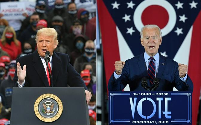 Donald Trump ja Joe Biden.